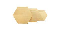 brass Hex Tables by Haldane Martin
