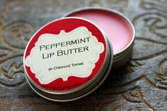 Peppermint Lip Butter -Tingly Peppermint Essential Oil