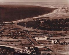 1930's photo of the South Bay from Palos Verdes California. Unknown Photographer.
