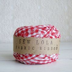 fabric ribbon in rustic farmhouse from the etsy shop of sew lola