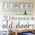 DIY: 20 Reuses For Old Doors. Dont throw them out when you renovate !! Re-design and re-purpose them !!