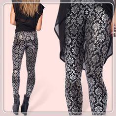 "PUNK Style New 2014 Spring Leggings For Women ""black milk style ""WALLPAPER SHINY SHINY Galaxy Leggings Plus Size Free Shipping $21.98"