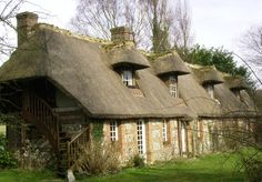 thatched cottage in Normandy, France