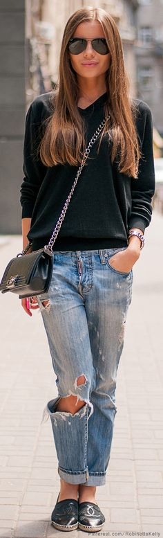 Denim Style - I have way too many posts similar to this but this i just love this outfit!