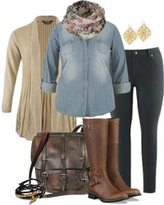 cute outfit, especially a somewhat darker wash in that chambray shirt (would love these boots in black).