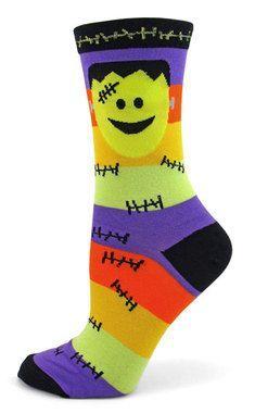 Frankenstein Stripe Socks