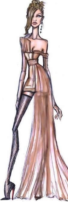 Gigi Hadid by Hayden Williams Fashion Illlustration