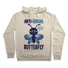 Anti-Social Butterfly Hoodie | Look Human