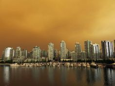 BC wildfire smoke over Vancouver.