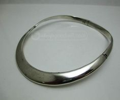 Heavy Sterling Hinged Collar Necklace