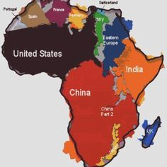a different perspective - - the true size of africa