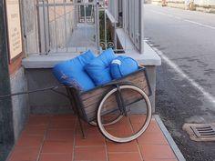 Il carretto della meditazione, yoga mat + zabuton + zafu FUTON ITALY