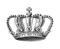 Germanic Grand Duke Crown   Symbols of Monarchy and Rank Royalty Free Stock Vector Art Illustration