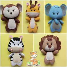 Felt Keychain, Sewing Stuffed Animals, Kindergarten Learning, Felt Decorations, Baby Boy Rooms, Diy Pillows, Felt Art, Felt Animals, Diy Toys