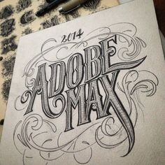 Some hand lettering for the fun of it. #adobemax #hydro74