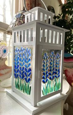 Fused Glass Art, Stained Glass, Tea Light Candles, Tea Lights, Glass Fusion Ideas, Texas Bluebonnets, Blue Bonnets, Tealight Candle Holders, Bricolage