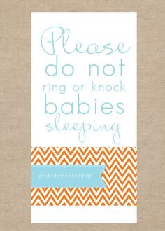 for the new mamas.  Doorbell Sign, New Baby. $5.00, via Etsy.