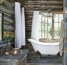One day I will have this bathtub.  If I ever get to buy and remodel an old farm house to sell. this would be the bathroom .