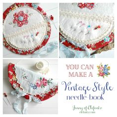 Jenny of ELEFANTZ: Vintage linens and a year long challenge... Thread Crochet, Needle And Thread, Hand Crochet, Vintage Embroidery, Vintage Sewing, Hand Embroidery, Needle Book, Needle Case, Sewing Crafts