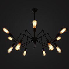 12 hoofden Edison lamp staal plafondlamp - edison lamp - E27 Filament lamp - industriële stijl - DIY verlichting - hanglamp - vintage stijl