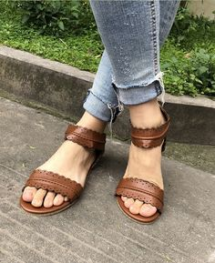 270977c563aa8 Flat Ankle Strap Casual Back Zipper Sandals  seamido  shoes  sandals  flat  Shoes