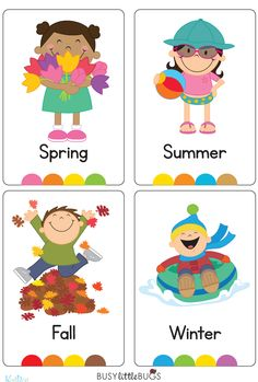 "In our ""Seasons Flash Cards"" pack, you will find a flash card for every season, also four flash cards for each season with words relating to each such as ""beach, suncream, kite"" etc. Preschool Worksheets, Preschool Learning, Learning Activities, Preschool Activities, Teaching Kids, Teaching Weather, Teaching Reading, Seasons Kindergarten, Preschool Seasons"