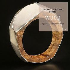 #organicmaterialseries  Wood Maple, ash, cherry, walnut and rosewood…the beautiful grains and colours, even the smell, of this material makes it a strong feature of any piece.  #wood #jeweller #jewellery #ring #bracelet #bangle #necklace #chain #pendant #earrings #brooch #metal #jaachapter2015challenge #page333of365  Image: Diane Turner, 'Geometric ring', wood and metal
