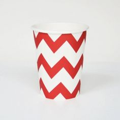 Red and White Chevron Paper Cup- find these in our Ahoy There! Chevron Paper, Red Chevron, Chevrons, Party Kit, Red Party, Pirate Theme, Kids Store, Party Themes, Party Ideas