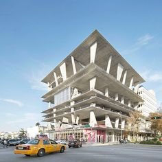 "Architecture: 1111 Lincoln Road by Herzog & de Meuron: ""..Herzog & de Meuron's 1111 Lincoln Road multi-storey car park in Miami Beach, Florida, US, also plays host to parties, yoga classes and weddings, explains proprietor Robert Wennett in this movie produced by filmmaker Elizabeth Priore..Named 1111 Lincoln Road, the concrete building with floor slabs supported on wedge-shaped columns was completed in 2010 to offer naturally lit parking levels that can also be used for other activities…"