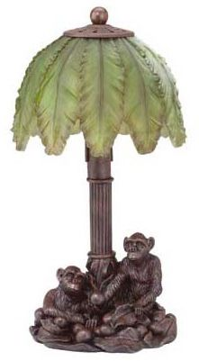 Monkeys and Palm Tree Lamp Tropical Style, Tropical Decor, Tree Lamp, Tree Table, Old Lamps, Garden Lamps, Unique Lamps, Vintage Lamps, Lamp Shades