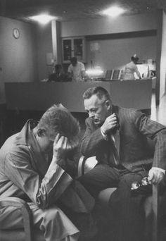 1956, Walter Sanders. Psychoanalyst, Dr. Robert A. Lambert interviewing a patient in a mental institution.