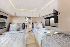View photos of the Unity Class C RV by Leisure Travel Vans. See photos, videos, floorplans and more of the luxurious Unity, built on the Mercedes Sprinter Cab Chassis. Airstream Camping, Van Camping, Camping Con Glamour, Leisure Travel Vans, Camping Activities For Kids, Class C Rv, Murphy Bed, Rv Living, Campervan