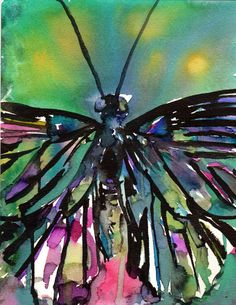 Be Still by Jessica Buhman Print of Original by ArtbyJessBuhman, $24.95 Butterfly Watercolor Painting