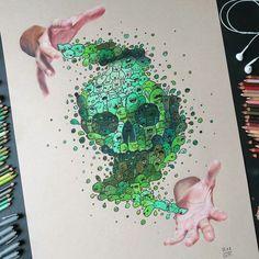 11 Doodle Drawings and 1 Painting. By Vince Okerman. Doodles Zentangles, Les Doodle, Vexx Art, Doodle Monster, Graffiti Doodles, Doodle Art Designs, Doodle Art Drawing, Illustration Art, Illustrations
