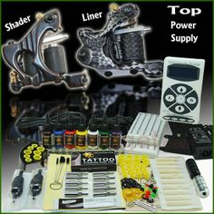 Best seller Tattoo Kits 2 Guns Power Supply Good Inks - $105.99 - Trendget.com