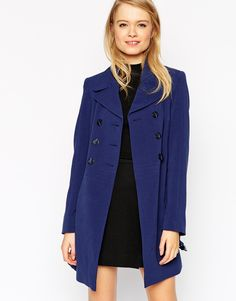 ASOS Coat With Double Breast And Tulip Skirt