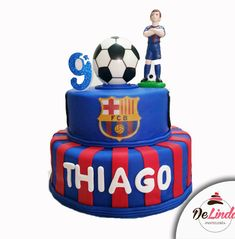 Torta del equipo Barcelona para los fanaticos Football Birthday Cake, Soccer Birthday Parties, 5th Birthday, Bolo Do Barcelona, Cooking Time, Desserts, Food, Cakes, Cake Toppers