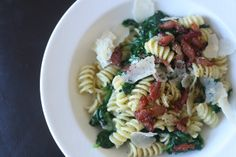 Week of Menus: Pasta with Mascarpone (or cream), Garlic, Spinach, and Crumbled Bacon: The Art of Practice