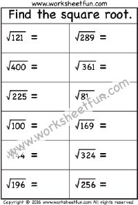 best squares  square roots images  free printable worksheets  square root   worksheet square roots free printable worksheets  multiplication math