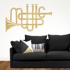 Vinilo de pared trompeta Music. Ideas decoración con frases y textos en vinilo http://dolcevinilo.es/vinilo-music Desde 38,60€ $40 #vinilosdecorativos #decoracion #ideasdecoracion #vinilosalon #decoracionsalon #ideas #florvinilo #viniloflor #salon #dormitorio #inspiracion #recibidor #habitación #despacho #frases #frasesvinilo #vinilofrases #texto #textovinilo #vinilotexto #musica #trompeta #instrumentos