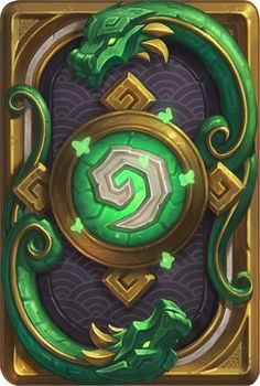 Card Back: Jade Lotus Artist: Blizzard Entertainment