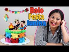 Bolo Festa Junina   Como Fazer Bolo Festa Junina em Chantilly ( Bolo Retalho) - YouTube