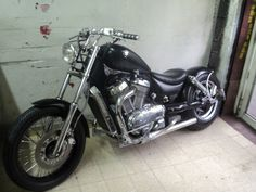 Suzuki Intruder 700 (note lines from rear suspension.  Don't like the exhausts.  Front end is ok, but too much chrome.)