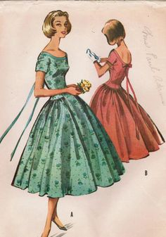 1957 Fashion...this may be the pattern for a bridesmaid's dress i had in a friends wedding.