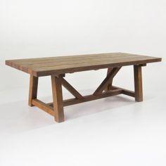 Trestle Dining Table (Reclaimed Teak)