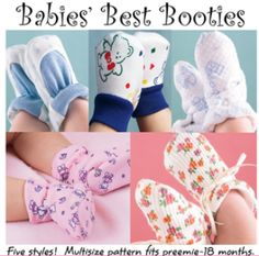 Babies' Best Booties | Sewing Pattern | YouCanMakeThis.com