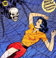 Image shared by Dolores. Find images and videos about vintage, retro and comic on We Heart It - the app to get lost in what you love. Sci Fi Comics, Horror Comics, Horror Art, Creepy Vintage, Vintage Horror, Vintage Comics, Vintage Art, Pulp Fiction Comics, Chloe