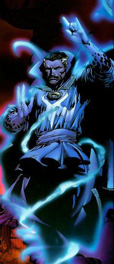 Dr Strange by David Finch Marvel Comics Superheroes, Marvel Comic Books, Marvel Art, Comic Book Characters, Comic Book Heroes, Marvel Characters, Comic Character, Comic Books Art, Comic Art