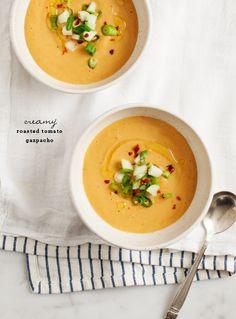 Creamy Roasted Tomato Gazpacho Recipe