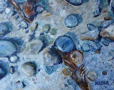 "Daily+Paintworks+-+""San+Juan+Islands+No.+3""+-+Original+Fine+Art+for+Sale+-+©+Judith+Elder"